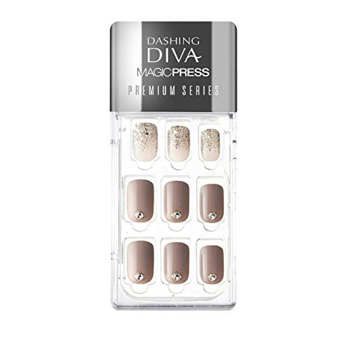 元気トーン販売員ダッシングディバ マジックプレス DASHING DIVA MagicPress MJP015PR-DURY+ オリジナルジェル ネイルチップ
