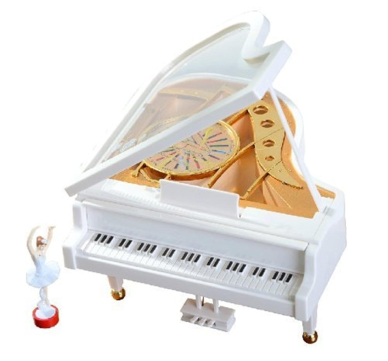 Alytimes バレリーナが踊る オルゴール ピアノ 薔薇 インテリア 音楽ボックス