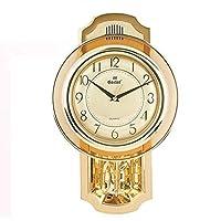 QYSZYG クロックリビングルームクリエイティブクォーツ時計寝室ミュートぶら下げテーブルスイング時計シンプルな時計 時計 (色 : A)