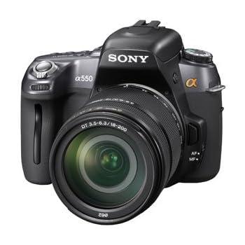 ソニー SONY デジタル一眼レフα550(高倍率ズームレンズキット)ブラック DSLRA550H