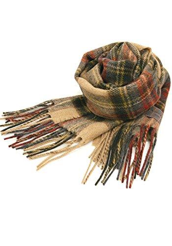 英国王室ご愛用 Lochcarron of scotland ロキャロン ラムズウール100% タータンチェックマフラー全44柄