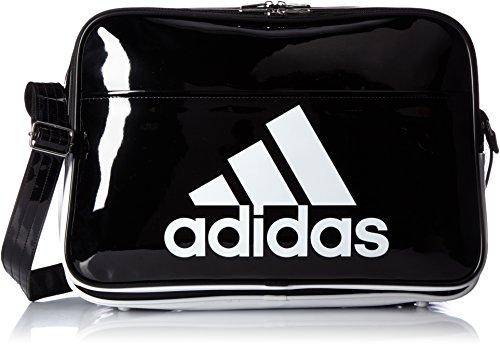 [アディダス] エナメルバッグ BASIC エナメル L ブラック/ホワイト