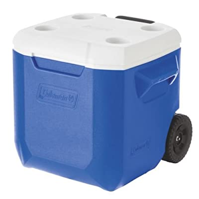Coleman Wheeled Cooler, Blue, 42 liter