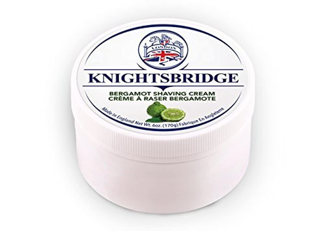 哺乳類打倒上院議員Knightsbridge - Bergamot Shaving Cream 170g [並行輸入品]