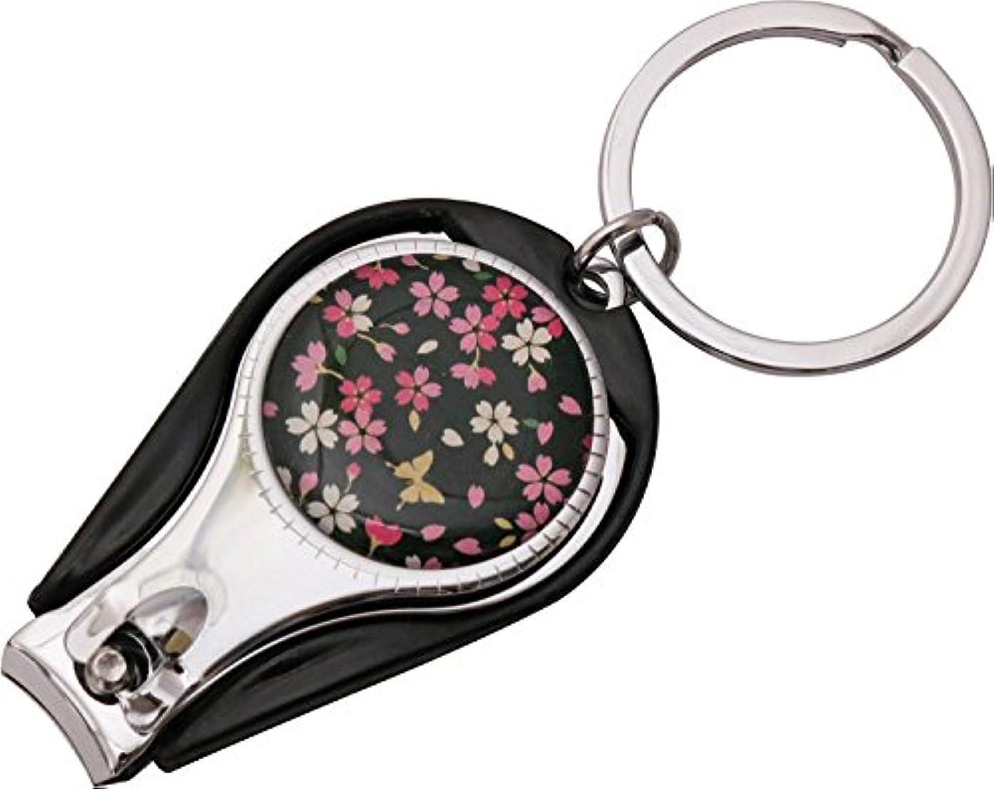 アメリカ抜粋解体するまつみ工芸 爪切り 花しずく 桜蝶