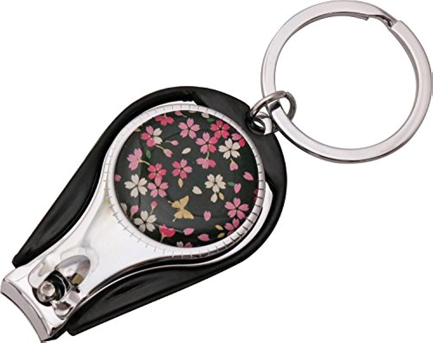 順応性のある家庭教師診断するまつみ工芸 爪切り 花しずく 桜蝶