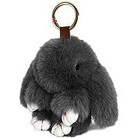Fasterhab Faux Fur Rabbit Doll Key Chain Fluffy Car Keyring Pendant Handbag Charm Women Bag Decoration