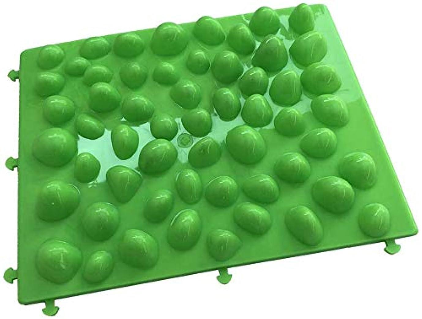 議会医療の清める足つぼマット 足裏マッサージ フットマッサージ 足/もも/背中などに対応 健康ボード(緑)