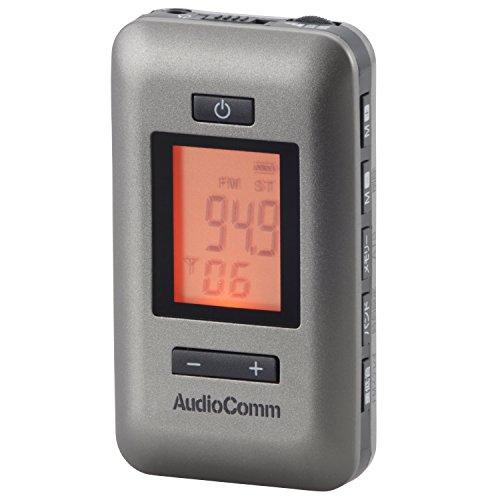 Audio Comm イヤホン専用DSP2バンドラジオ ガンメタ RAD-P187N