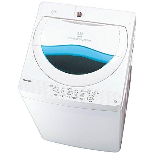 東芝 全自動洗濯機 5kg ステンレス槽 グランホワイト AW-5G5(W) AW-5G5(W)
