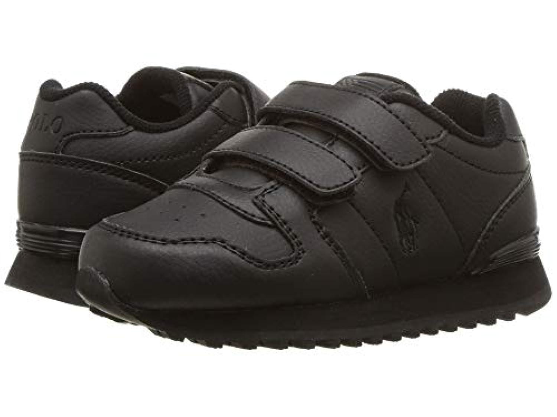 [Polo Ralph Lauren(ポロラルフローレン)] キッズカジュアルシューズ??スニーカー?靴 Oryion EZ (Toddler/Little Kid) Triple Black Tumbled 10 Toddler...