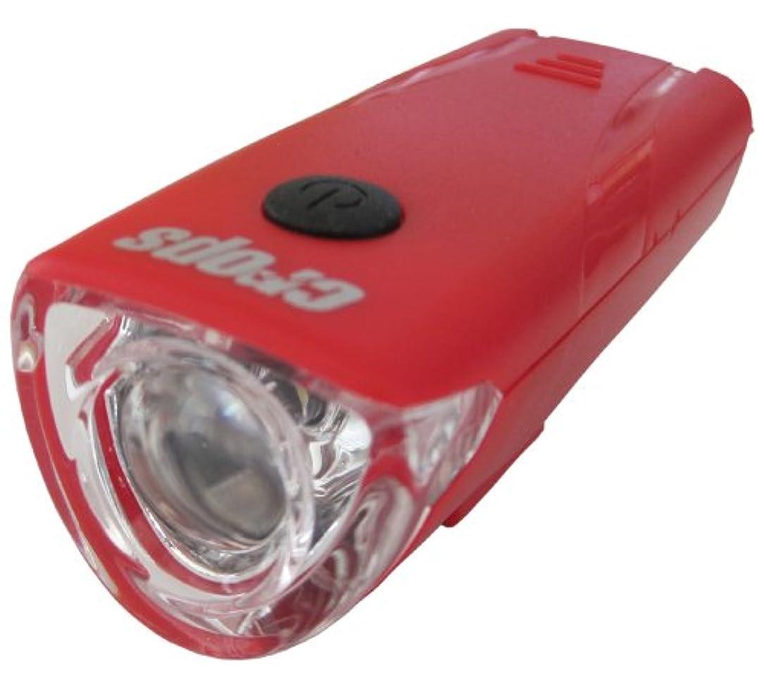 乱闘ベリ指定する自転車 ライト 1LED前照灯 レッド 44433
