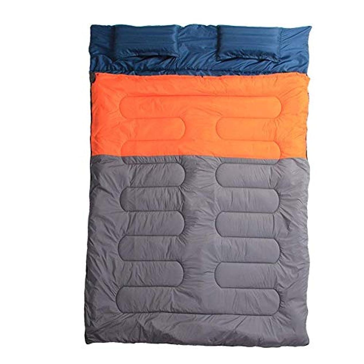 メイエラ贅沢な平日Anas ダブルスリーピングバッグ バックパッキング キャンプ ハイキング用 トラック テント 寝袋 軽量
