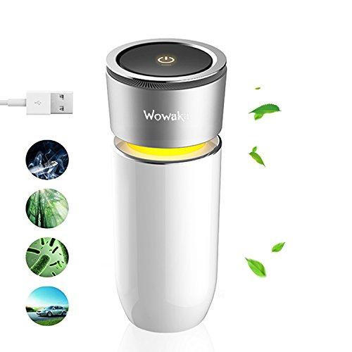 Wowaka 空気清浄機 イオン発生器 卓上 車載 小型 静...