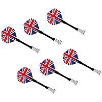 Sharplace 6/12個 磁気ダーツ 国旗  マグネット ダーツボードダーツボード用 高品質 耐久性 - イギリス