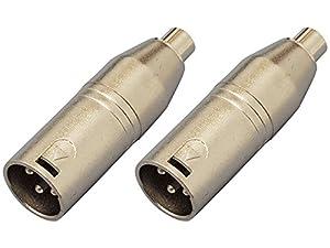 【2個セット】KC 変換コネクター CA315 XLR(M)/RCA(F) オーディオ・ケーブルを業務用機器へ接続