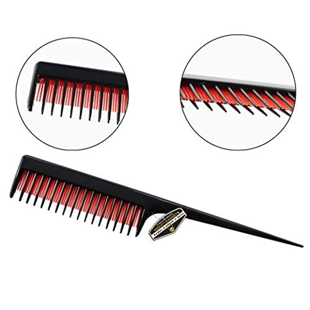 消防士泥観客3 Pack of Mighty Gadget 8 inch Teasing Comb - Rat Tail Comb for Back Combing, Root Teasing, Adding Volume, Evening...