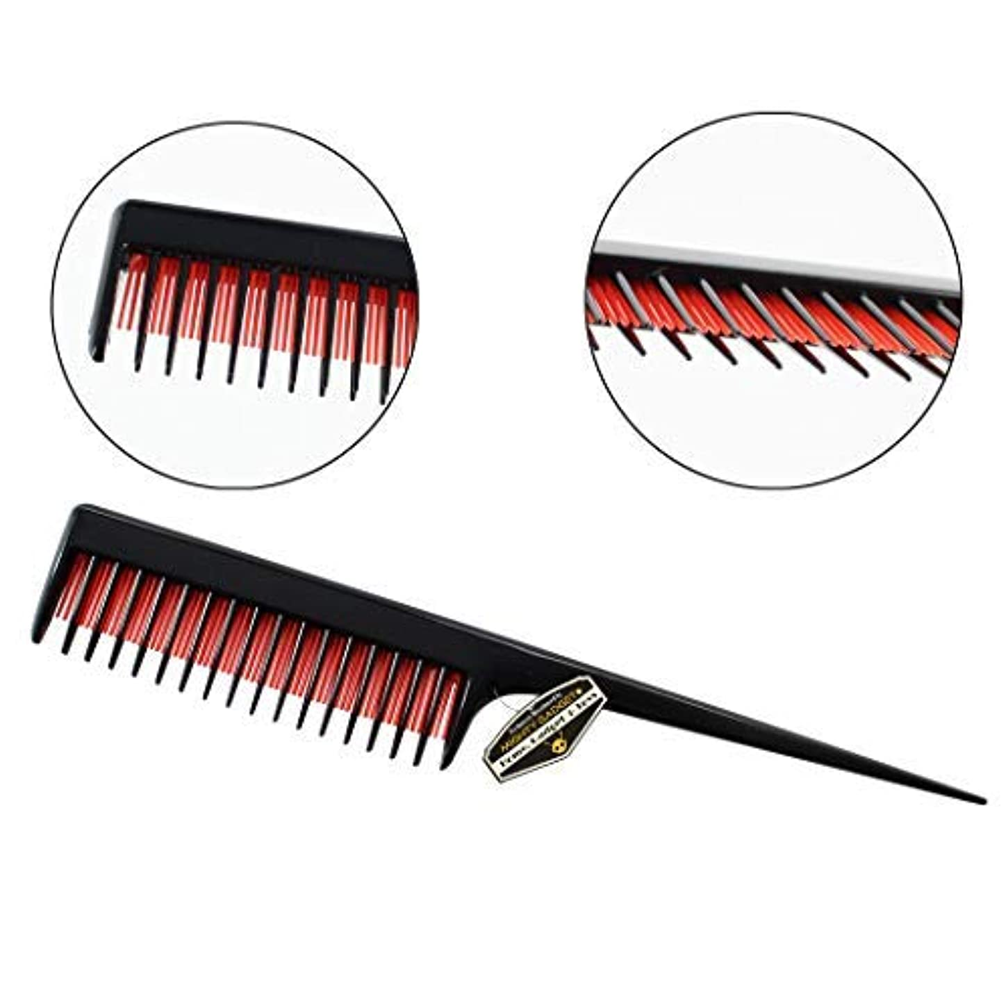 データ無駄爪Mighty Gadget 8 inch Teasing Comb - Rat Tail Comb for Back Combing, Root Teasing, Adding Volume, Evening Styling...