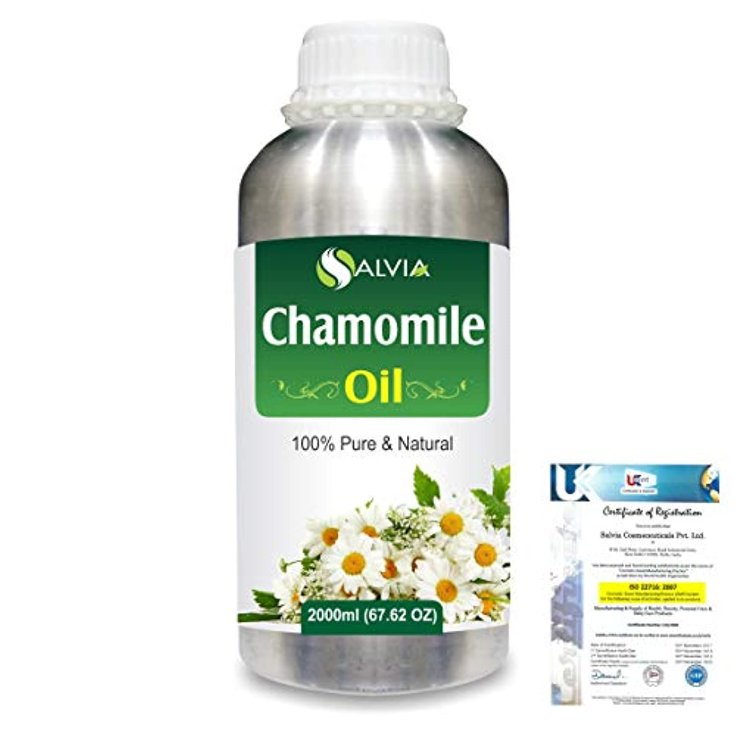 マインドフル法的振り向くChamomile (Matricaria chamomile) 100% Natural Pure Essential Oil 2000ml/67 fl.oz.