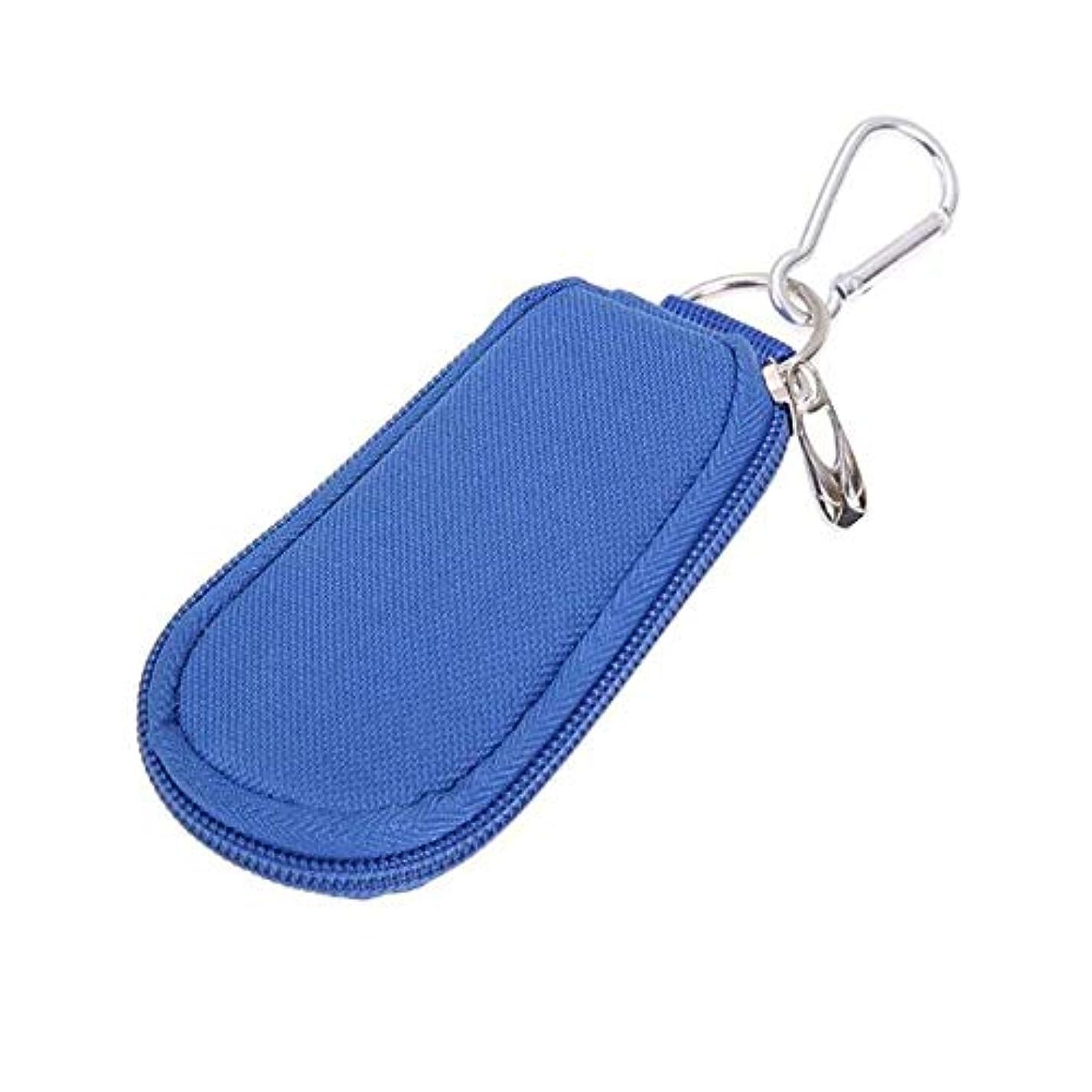 サンダース狂ったトレードエッセンシャルオイルストレージボックス エッセンシャルオイルストレージオーガナイザーブルー走行用1-3MLエッセンシャルオイルバッグパーフェクトを開催します 旅行およびプレゼンテーション用 (色 : 青, サイズ : 11.5X6.5X1.5CM)