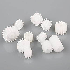 【DIY汎用パーツ】プラスチックギアパック 11STYLESピニオンセット プラスチックギア DIY パーツ 11個入