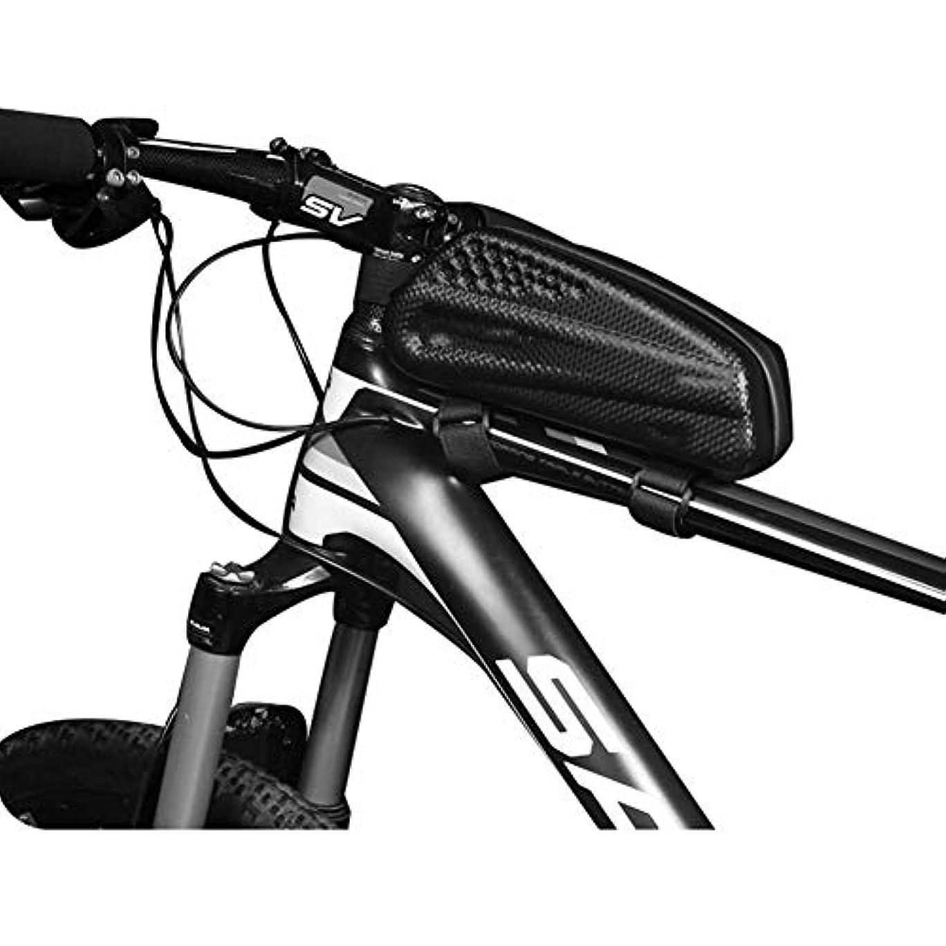 悪意のある卑しいストロークトップチューブバッグ 自転車 サイクリング用 フレームバッグ  高容量 防圧 防塵 軽量 防水 簡単装着 小物収納 膝に当たらないデザイン ロードバイク マウンテンバイク 反射板付き