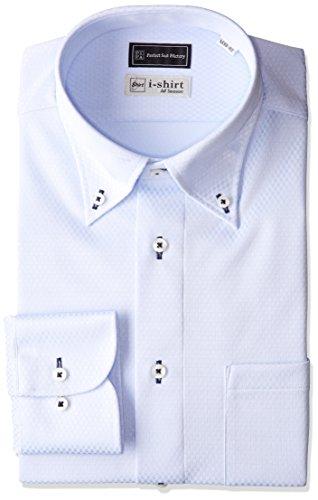 (ピーエスエフエー) P.S.FA i-shirt 完全ノーアイロン 長袖 ボタンダウンアイシャツ M151180064 81 サックス L(首回り41cm×裄丈84cm)
