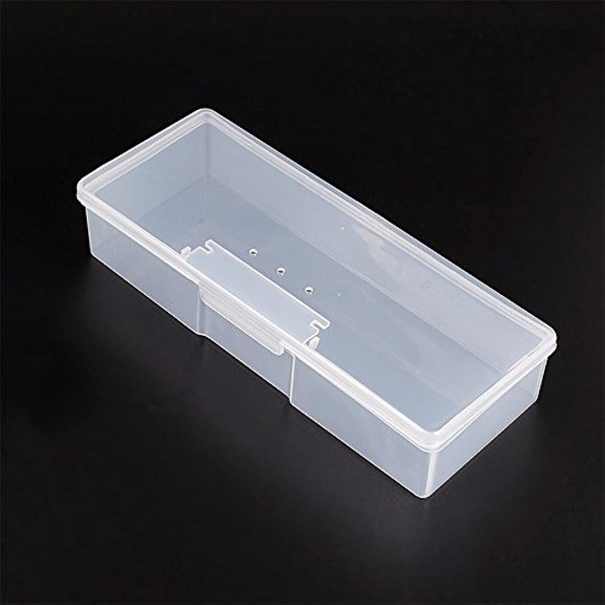 会計士臭いほこりっぽいマニキュアツール 収納ボックス ポータブル キット 透明ネイルアート 収納 ホワイト