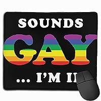 同性愛者に聞こえる マウスパッド 25×30 大判 ノンスリップ 防水 ゲーミング おしゃれ マウスの精密度を上がる