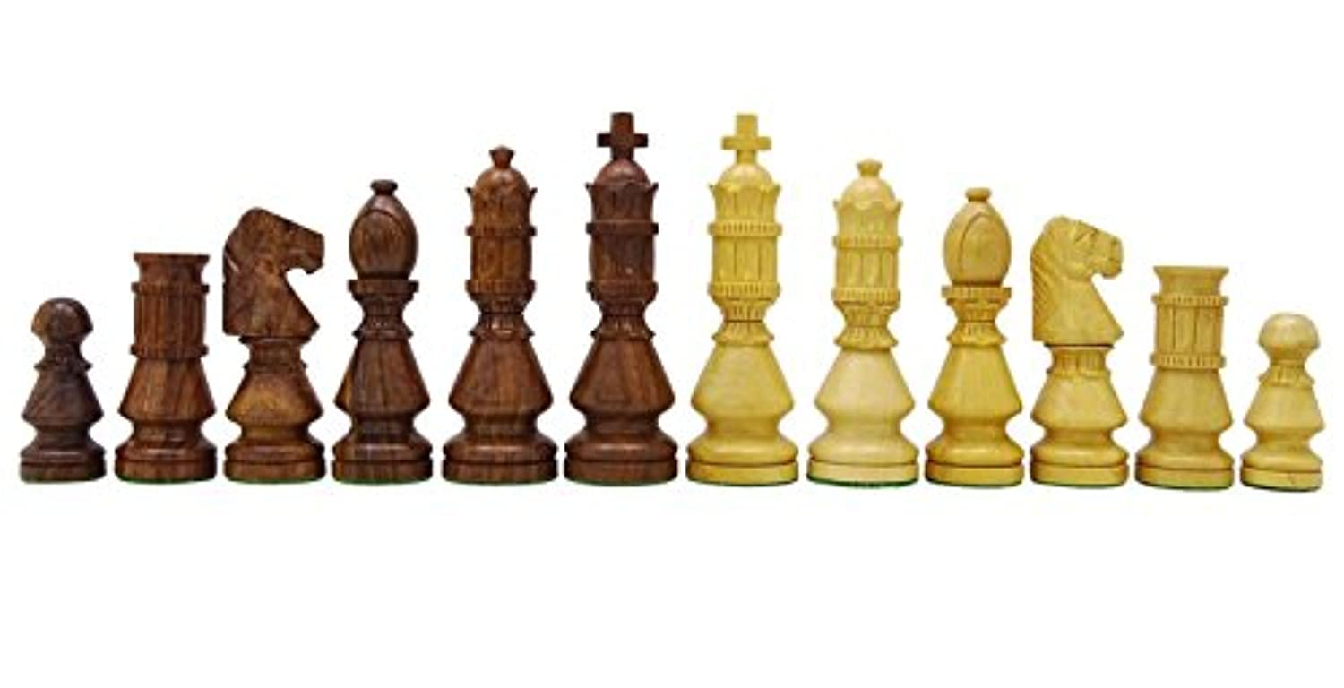 Chessmate Golden Rose Wood Hand Crafted Heavy Chess Staunton Chessmen King's Height 104 mm Gift For Father