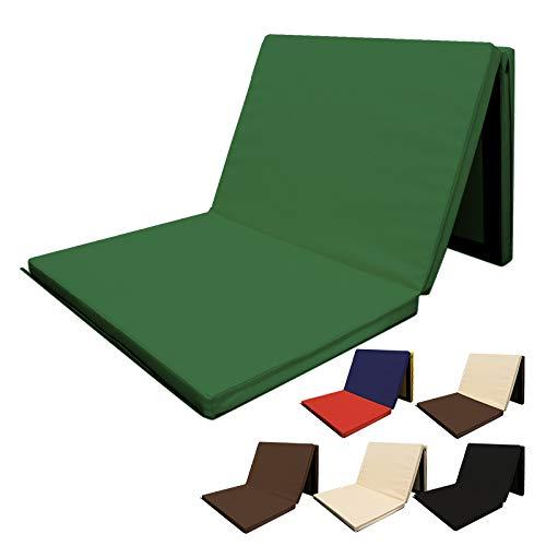 RIORES (リオレス) スポーツマット 折りたたみ式 [ 180x80x厚さ5cm ] エクササイズマット 体操マット 連結可能 (グリーン)