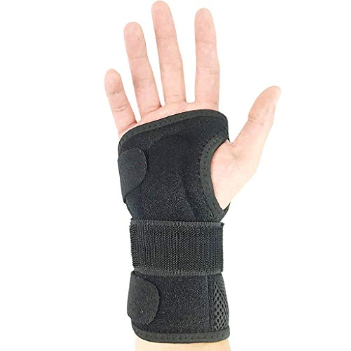 ソーシャル床を掃除する化石手首骨折固定副子 - 通気性フィットネス捻挫痛みプロテクター調節可能な左右の手首バンドユニセックス,Right,M