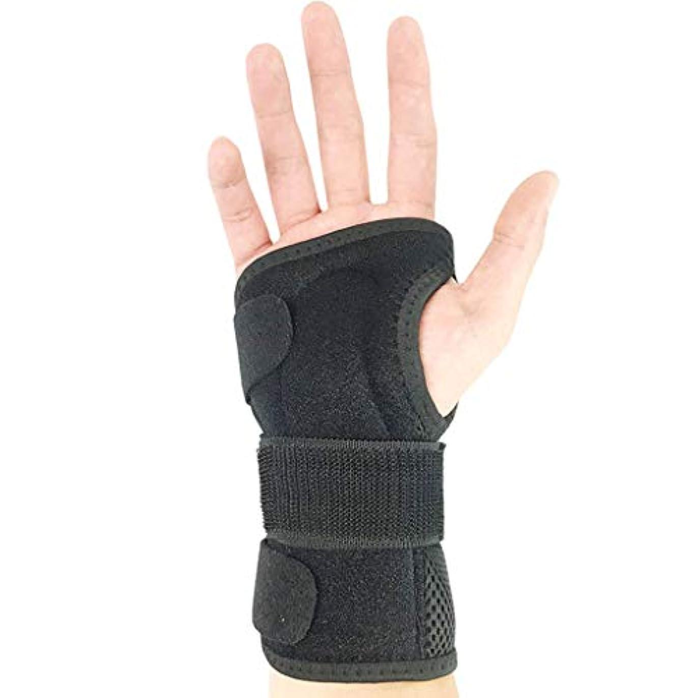 タールく放送手首骨折固定副子 - 通気性フィットネス捻挫痛みプロテクター調節可能な左右の手首バンドユニセックス,Right,M