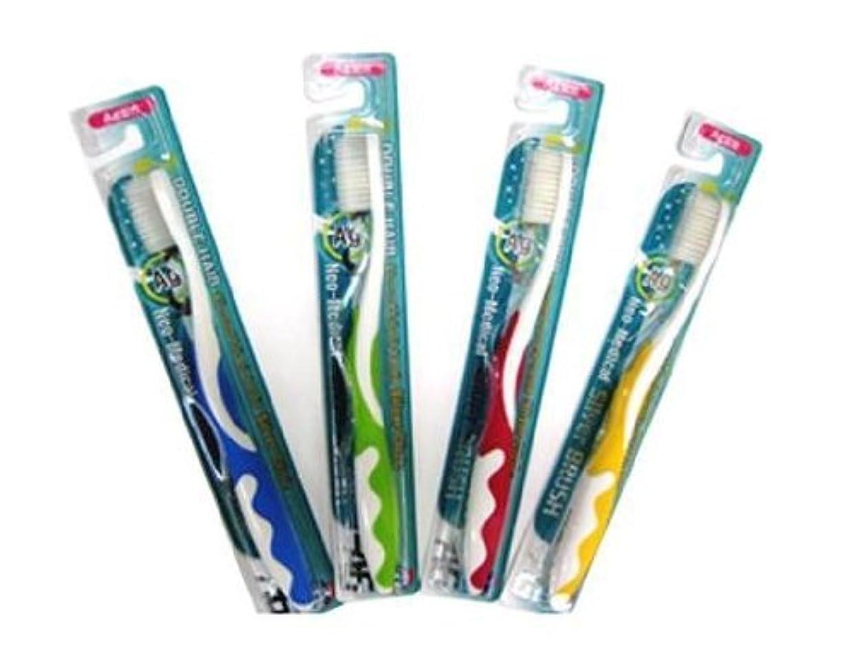 腐敗した時系列ゴムネオG-1シルバー歯ブラシ 4色セット
