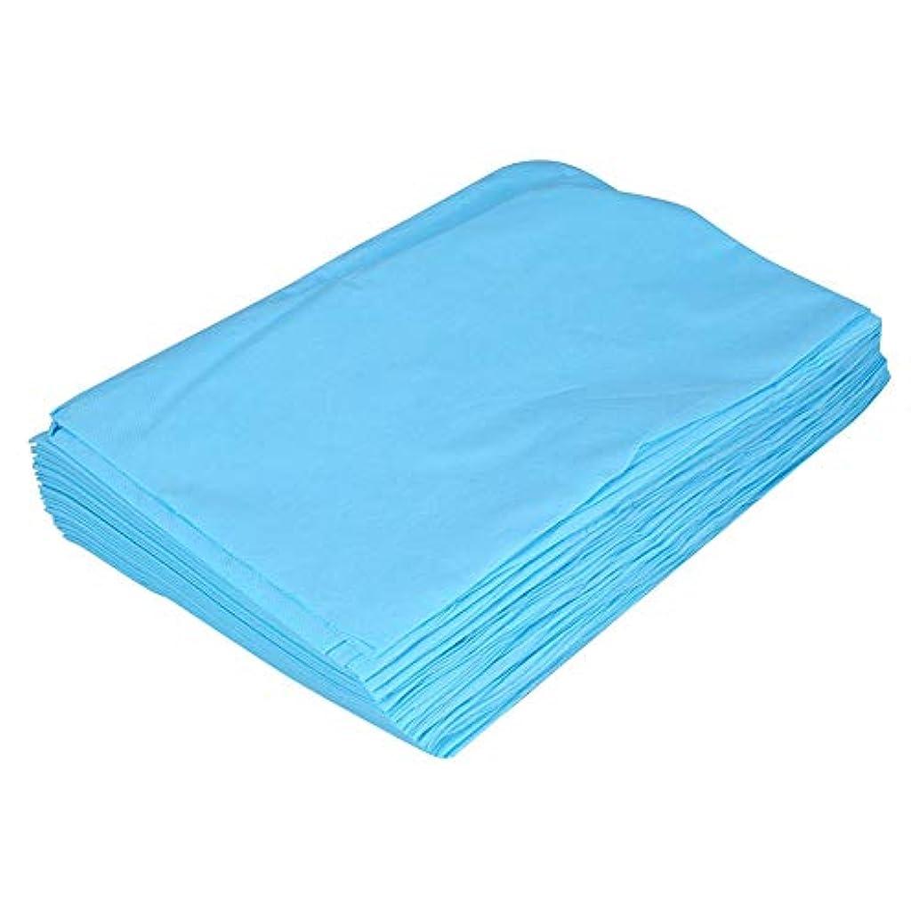 引っ張る真似るなので非編まれた使い捨て可能な防水シーツマッサージの美カバー(Pink)