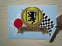 Bridgestone Flag & Scroll Sticker ブリヂストン ブリジストン ステッカー デカール シール 海外限定 95mm x 65mm [並行輸入品]