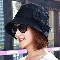 Women's Hat Ms Cap Spring Cotton Bow Double Color Basin Cap Fisherman Hat Painter Hat (Color : -, Size : -)