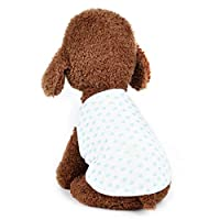 Tichan スタイリッシュなペットベスト 夏秋のスタープリント 快適な犬と猫のドレス 犬猫の衣装 ペットの衣類