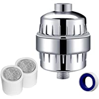 Quantum GM 10-Stage Shower Head Filter With 2 Cartridges - Universal Hard Water Filtration & Purification System - Removes Chlorine, Heavy Metals, Bacteria, Sulphur Odours - Restore Hair & Skin Health