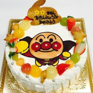 ノンエッグ キャラクターケーキ 生クリームとフルーツ
