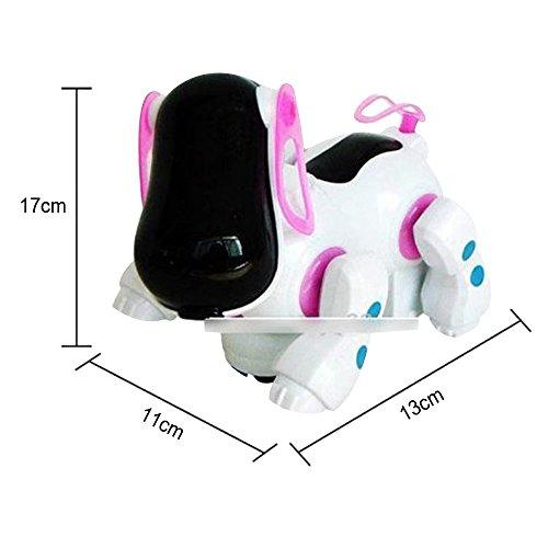 YUANSHOP1 ロボット犬 ワンちゃん 電子玩具 アニマルトイ 犬型 子供用 電動 おもちゃ 多機 能 アクション&音楽出る&光る キュート (レッド)