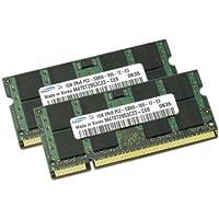 Samsung 2GBメモリ 2枚組 DDR2 667MHz PC2-5300 1GBX2  DUAL 200pin SODIMM ノート パソコン用 増設メモリ 2GB デュアル