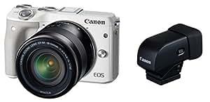 Canon ミラーレス一眼カメラ EOS M3 レンズEVFキット(ホワイト) EF-M18-55mm F3.5-5.6 IS STM 付属 M3WH-1855ISSTMLEVFK
