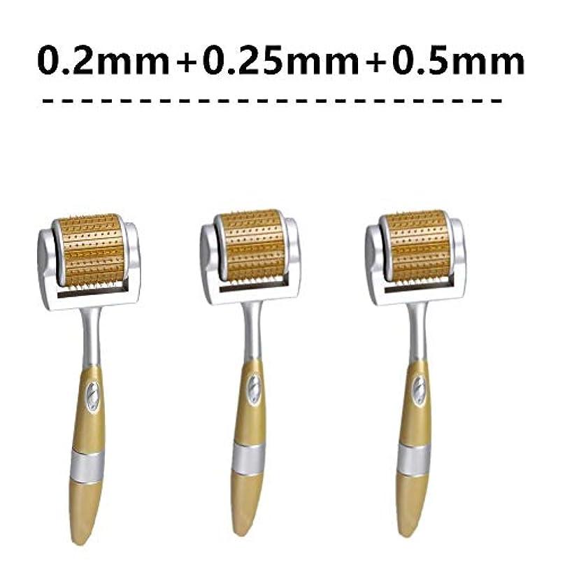 代わりの貼り直す運搬ローラーMicroneedling設定された顔抜け毛ストレッチ針プロフェッショナルのための皮膚再生、アンチエイジング、しわ、ストレッチマークや傷跡削減ケアのために、0.2ミリメートル0.25ミリメートル0.5ミリメートル...
