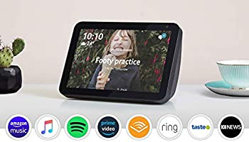 "Introducing Echo Show 8 - HD 8"" smart display with Alexa - Charcoal Fabric"