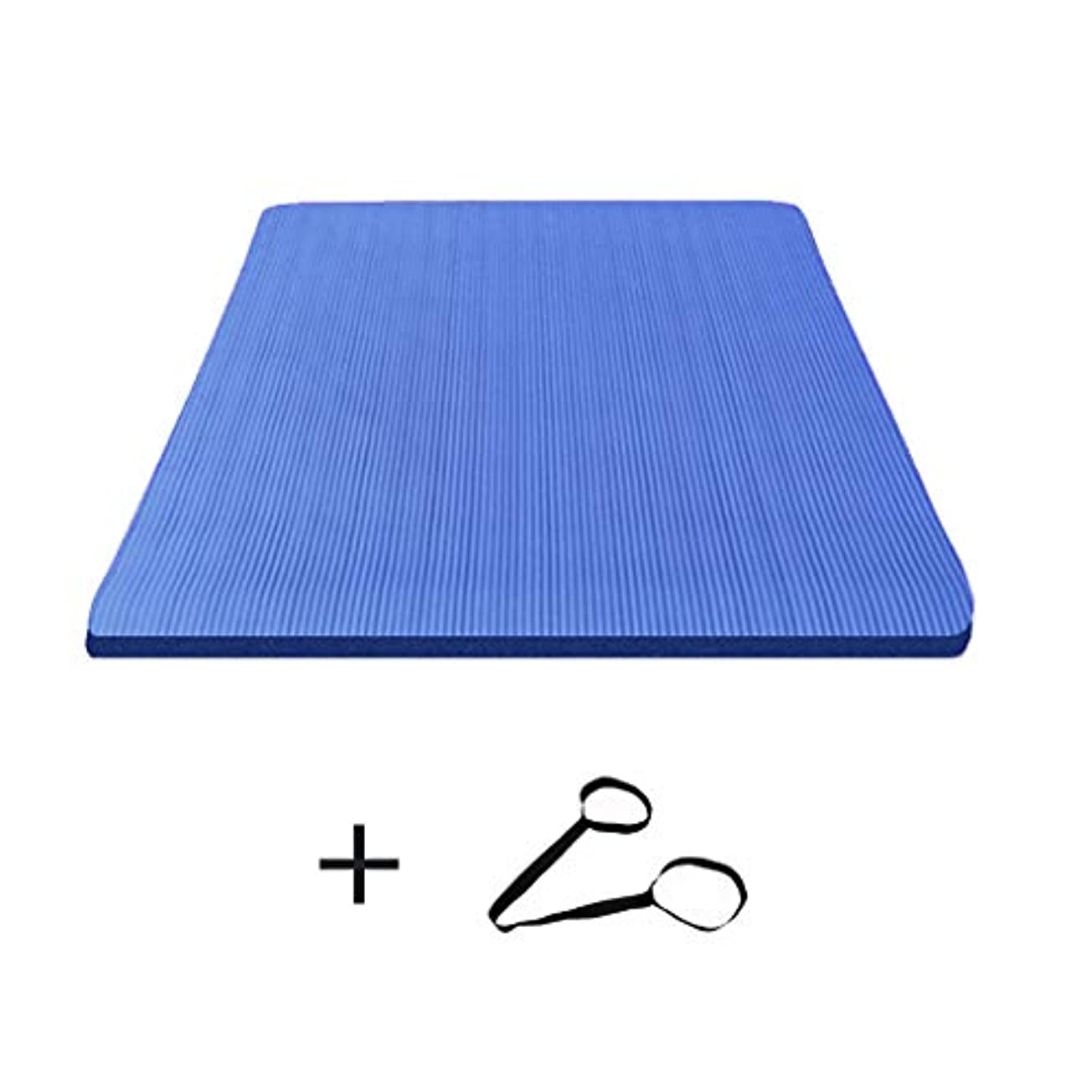 改革やるそこ寝袋アウトドアアウトドアブッシュスリーシーズンキャンプ ダブルヨガマット特大広め滑り止めフィットネス毛布キャンプに適して男性と女性200 * 160センチメートル で利用できる単一の二重色 (サイズ さいず : 青-15mm, サイズ さいず : Ordinary style)