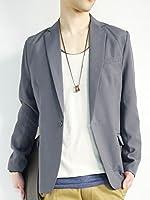 (モノマート) MONO-MART 1つボタン デザイナーズ テーラードジャケット スーツ生地 メンズ 秋