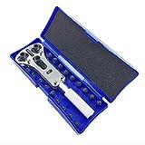 NITIUMI 時計工具 防水時計用 裏フタ開け器 電池交換用 高級3点支持オープナー [6種18ビット] 裏蓋を簡単開閉 工具 専用ケース付き