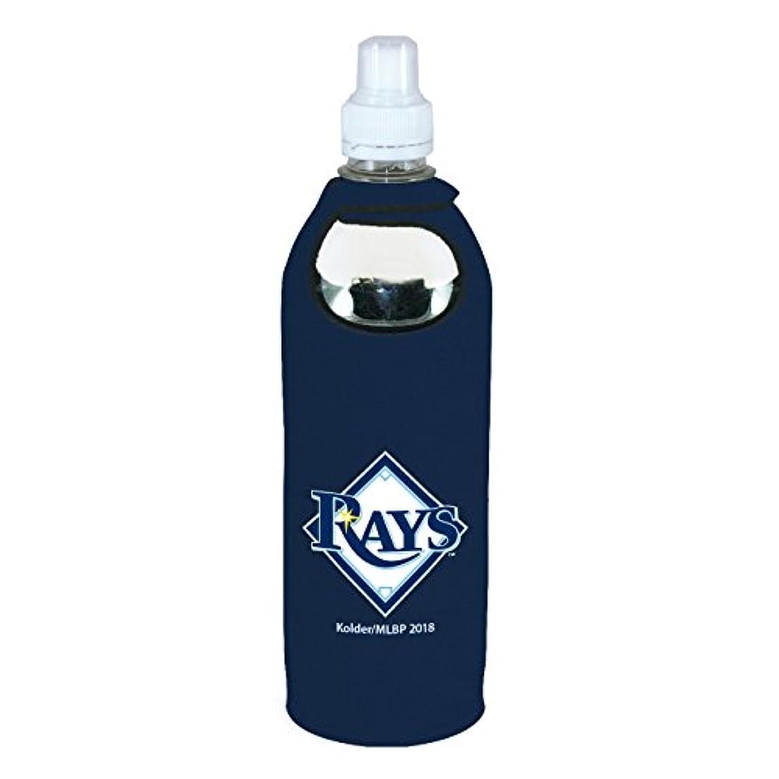 一時的素子縫うTampa Bay Rays 1 / 2リットル水Soda Bottle KoozieホルダーCooler withクリップ野球