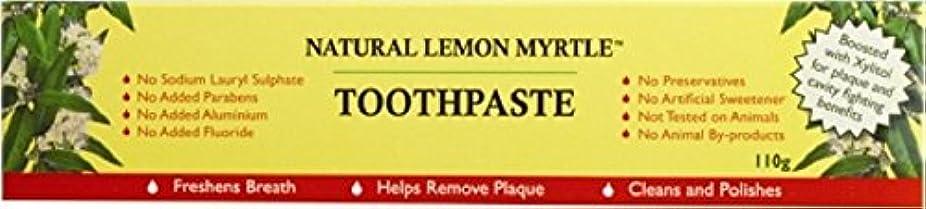 従者縞模様の揃える【LEMON MYRTLE FRAGRANCES】Toothpaste レモンマートルフレグランス トゥースペースト 110g 3個セット
